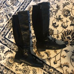 Shoes - Long thigh-high leather boots